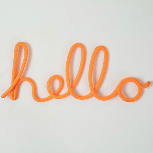 Hello Rope Word Neon Orange