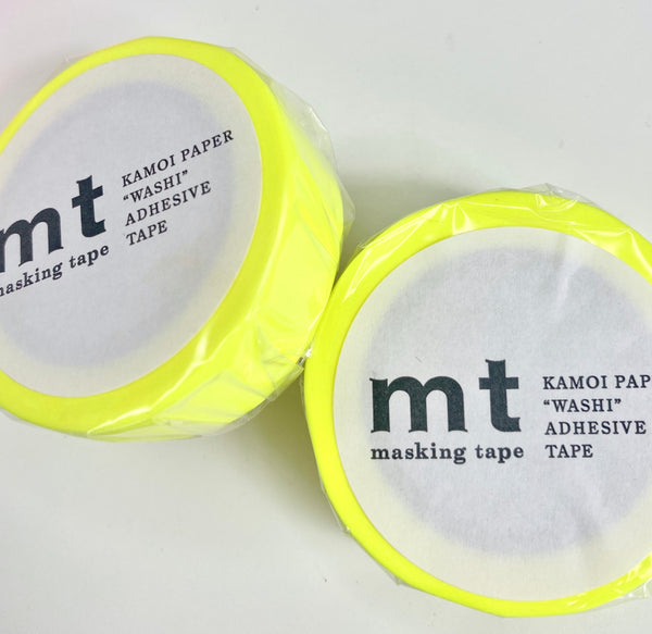 Washi Tape - Shocking Yellow
