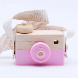 Wooden Toy Camera Pink/Wood
