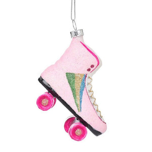 Retro Rollerskate Shaped Bauble