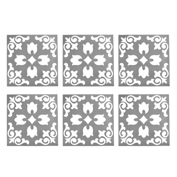 Dark Grey Tile Stickers 15cm  x 15cm  (12)