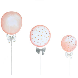 Blush Balloon Wall Stickers