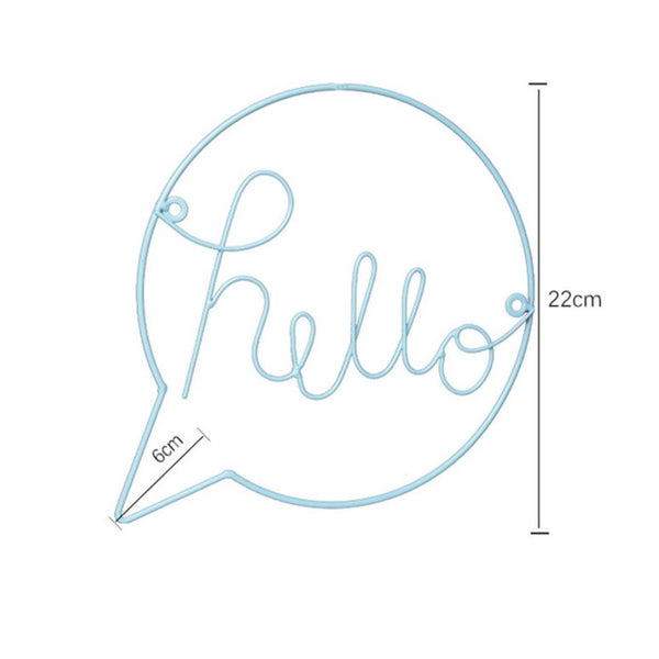Hello Speech Bubble Blue