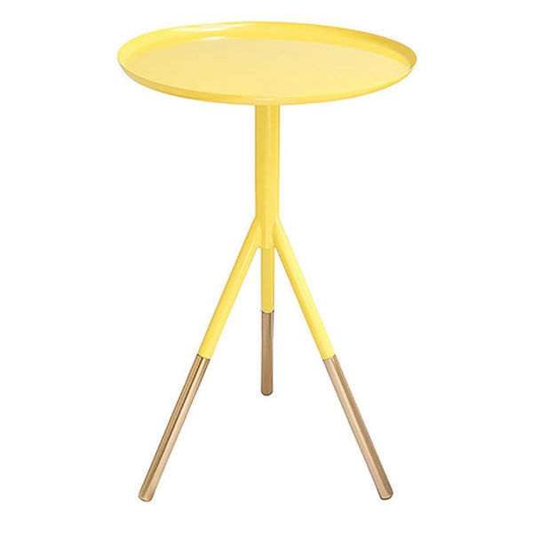 Tri-Pod Side Table - Yellow & Copper 30% off at checkout!!!