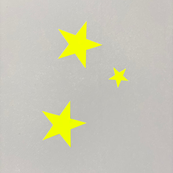 Neon Yellow Confetti Stars Wall Stickers