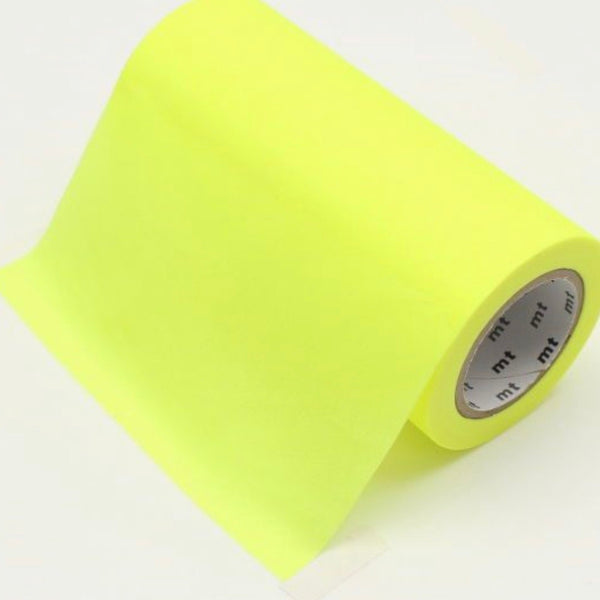 Washi Tape - Shocking Yellow 100mm
