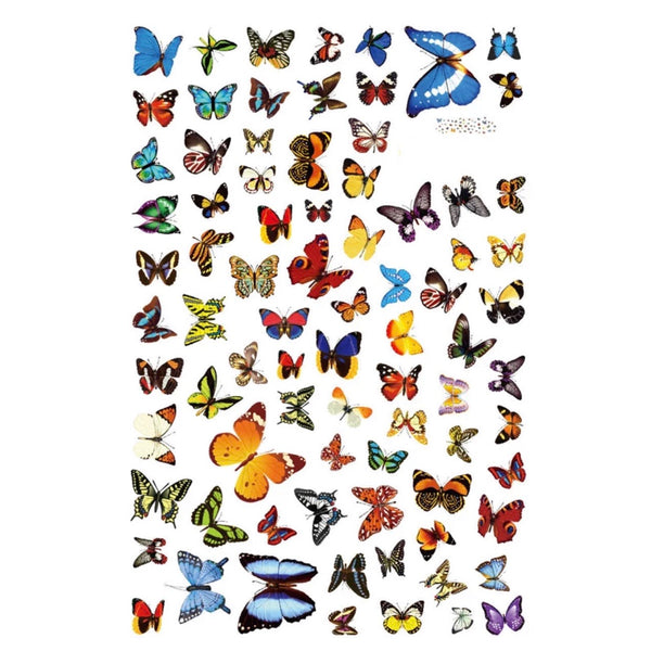 Butterfly wall/furniture stickers set of 81