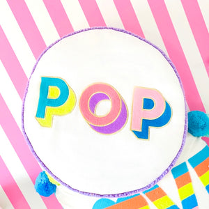 POP Embroidered Round Cushion