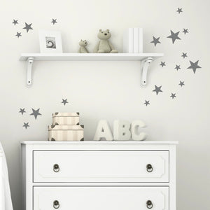 Star Stickers Set Dark Grey