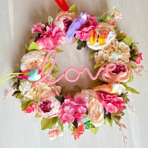 Large Love Wreath With birds