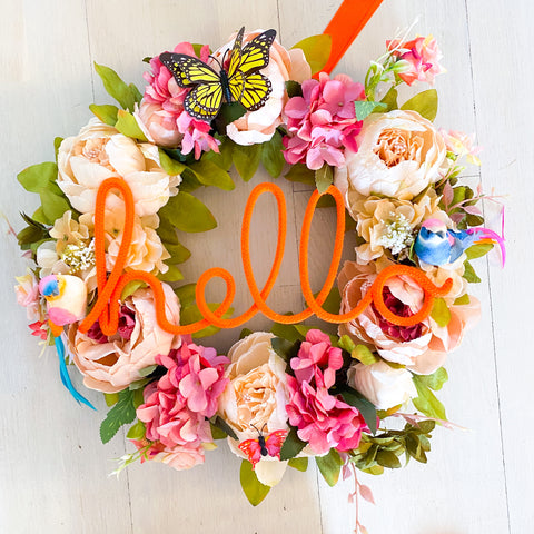 Large Hello Wreath