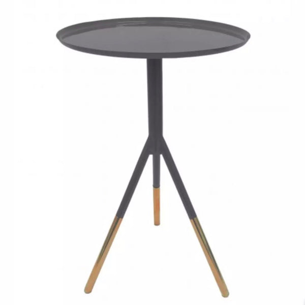 Tri-Pod Side Table - Grey & Copper
