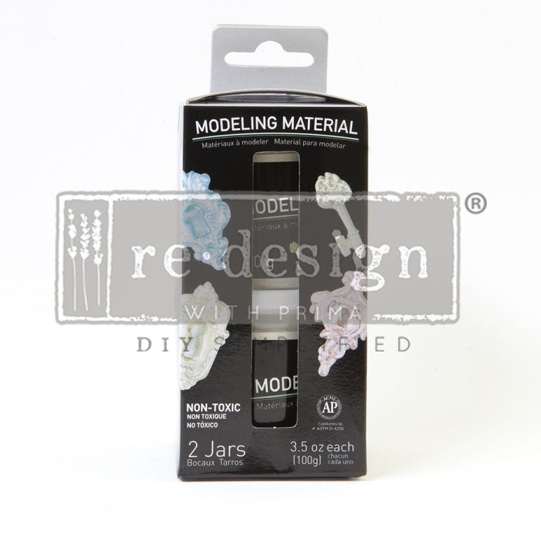 Redesign Air Dry Modelling Material 2 Pack 3.5oz Each
