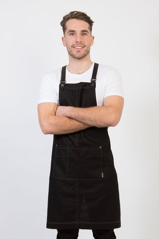 UBD Pu Leather Strap Apron  THEODORE V2 - Black