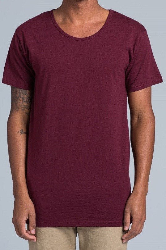 UBD Cooper Scoop Neck T-Shirt Mens - Burgandy Marle