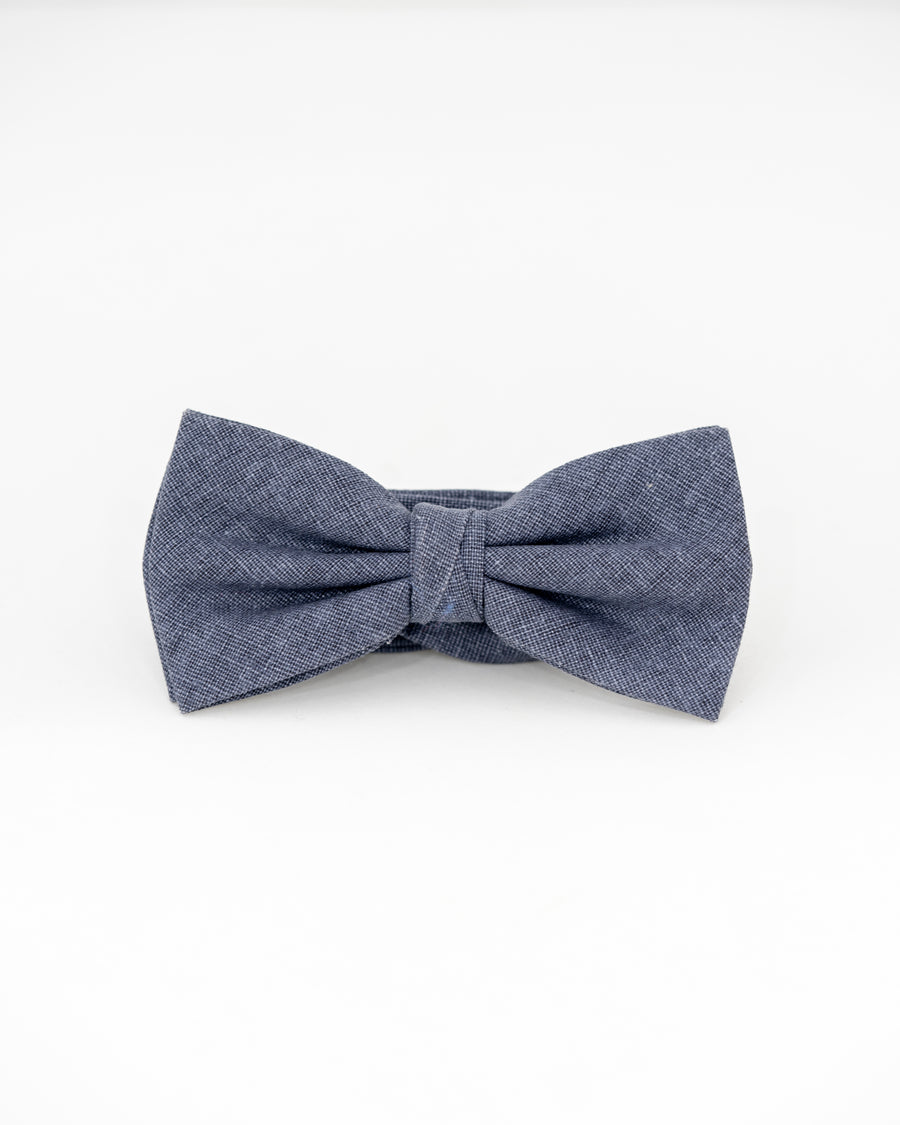 MEYER Linen Bow Tie - Chambray