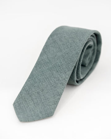 JAY Linen Tie - Forest