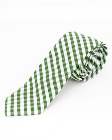 TEDDY Gingham Tie - Olive