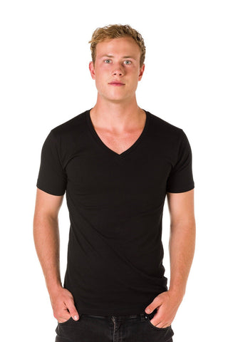 UBD Victor V-Neck T-Shirt Mens - Black