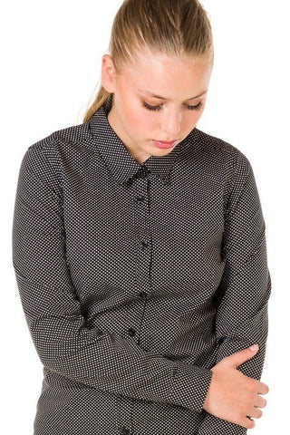 UBD Essential Spot Shirt HARRISON - Black