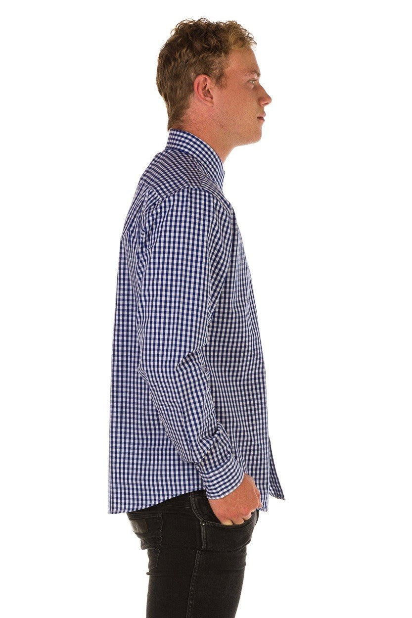 TEDDY Essential Gingham Mens's Shirt - Cobalt