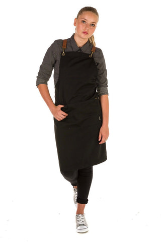 UBD BIB Apron with metal trims CLEMENTINE - CHARCOAL