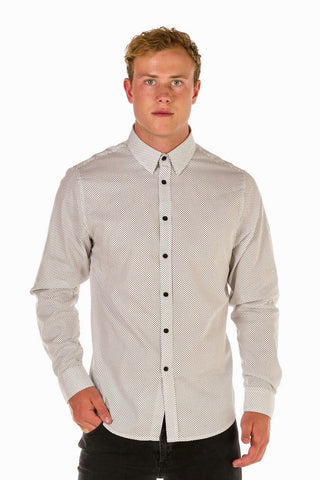UBD Essential Spot Shirt HARRISON - White