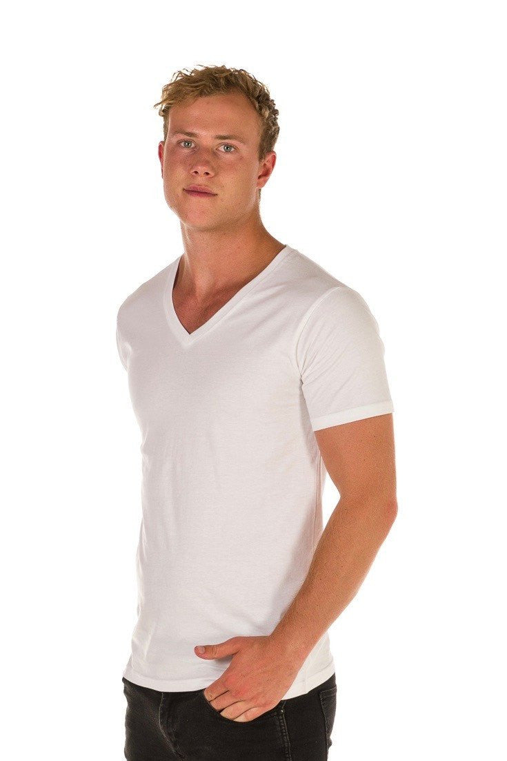 UBD Victor V-Neck T-Shirt Mens - White