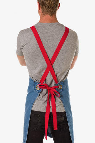 UBD Denim 2 Pocket Apron HAMPTON COLOUR STRAP - VINTAGE BLUE