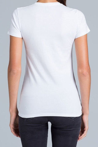 UBD Hawker Crew Neck T-Shirt Ladies - White
