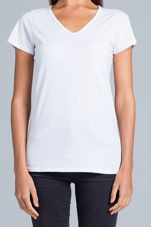 UBD Victor V-Neck T-Shirt Ladies - White