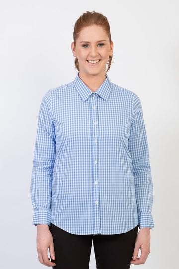 TEDDY Essential Gingham Woman's Shirt - Pale Blue