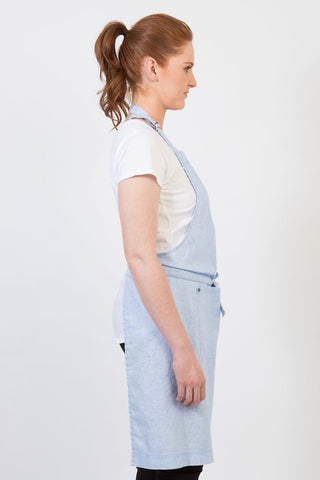UBD BIB Apron with metal trims CLEMENTINE - PALE BLUE