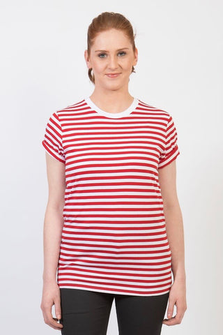 UBD Walter Stripe Womens T-Shirt - Black/Natural