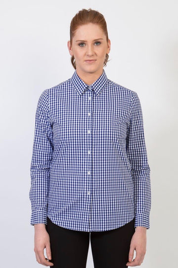TEDDY Essential Gingham Woman's Shirt - Cobalt