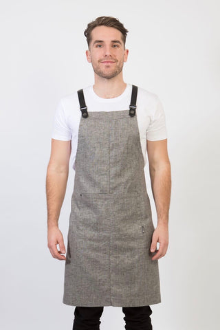UBD BIB Apron with metal trims CLEMENTINE - BLACK