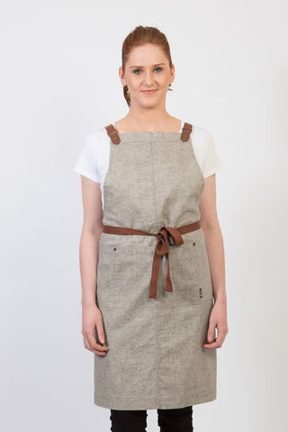 UBD BIB Apron with metal trims CLEMENTINE - CHOCOLATE