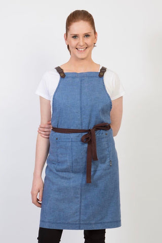 UBD Pu Leather Strap Apron  THEODORE V2 - NEW INDIGO