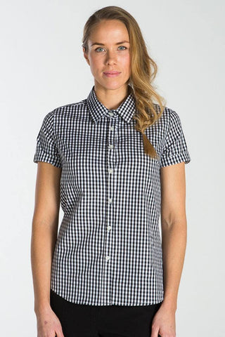 UBD Essential Gingham SH/ SL Shirt TEDDY - Pale Indigo