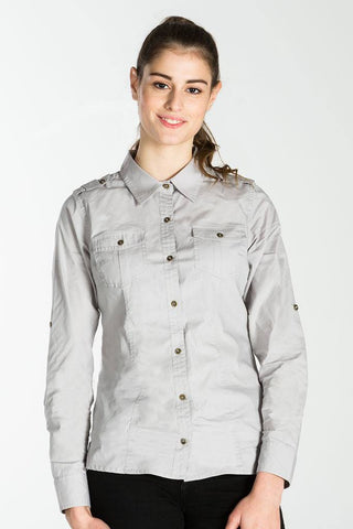UBD Denim Trim Check Shirt HARVEY - BLUE