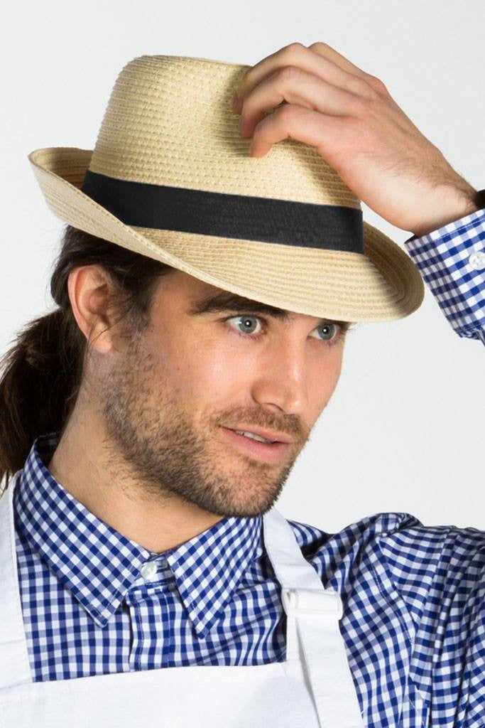 A fedora hat exemplifies character and style. Add one to your staff's outfit for a little extra personality.