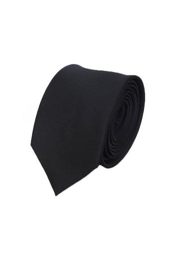 Slimline black tie with light sheen, perfect to finish off any uniform