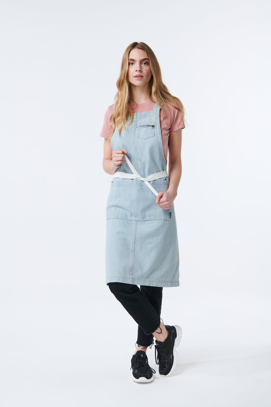 HAMPTON 2 Pocket Apron - BLEACHED DENIM