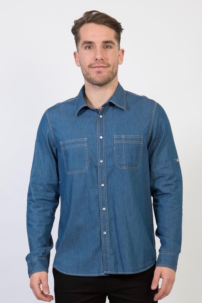 DEXTER Denim Shirt - DARK INDIGO