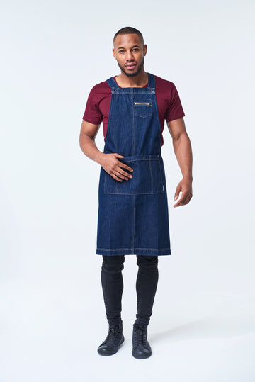HAMPTON 2 Pocket Apron - INDIGO DENIM