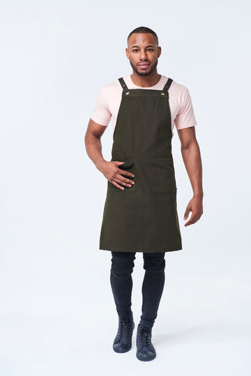 ASPEN Apron Duck Canvas - Olive