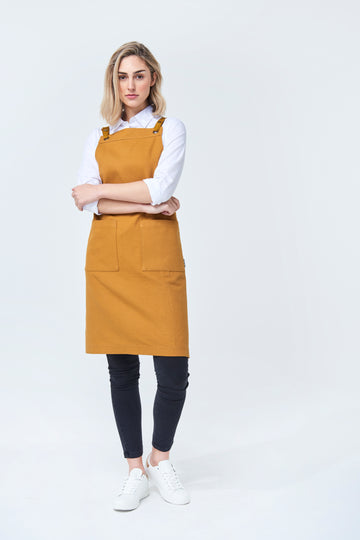 ASPEN Apron Duck Canvas - Mustard