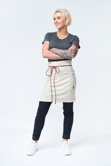 UBD Waist Apron with PU leather strap GATSBY