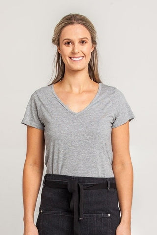 UBD Hawker Crew Neck T-Shirt Ladies - Grey