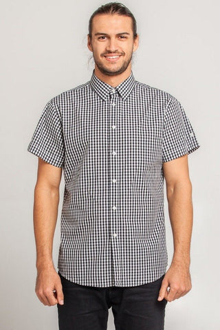 UBD Essential Gingham Shirt TEDDY - Cobalt